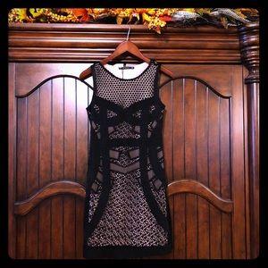 ZARA WOMAN BLACK KNIT DRESS